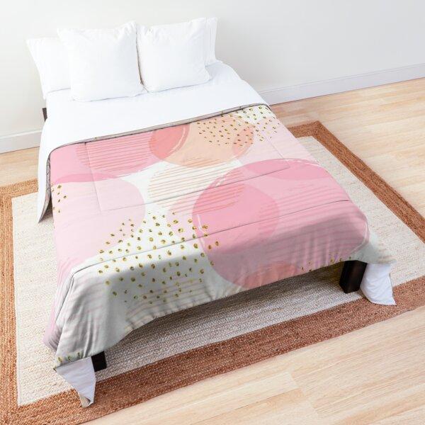 Modern soft pastel pink balls pattern Comforter