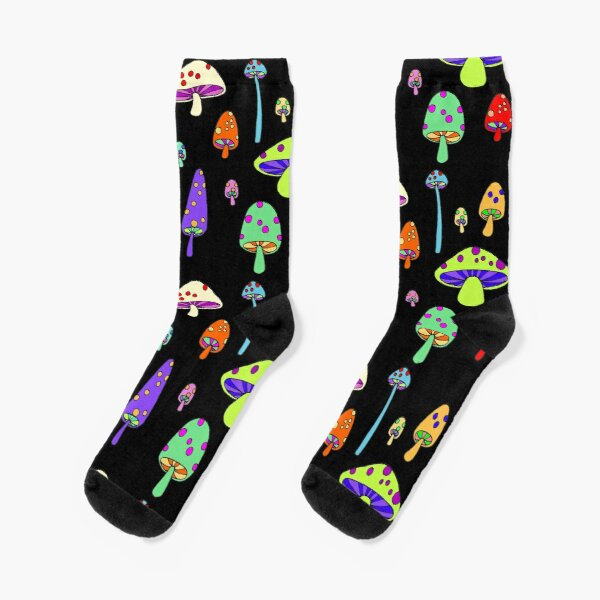 Technicolor Mushrooms  Socks