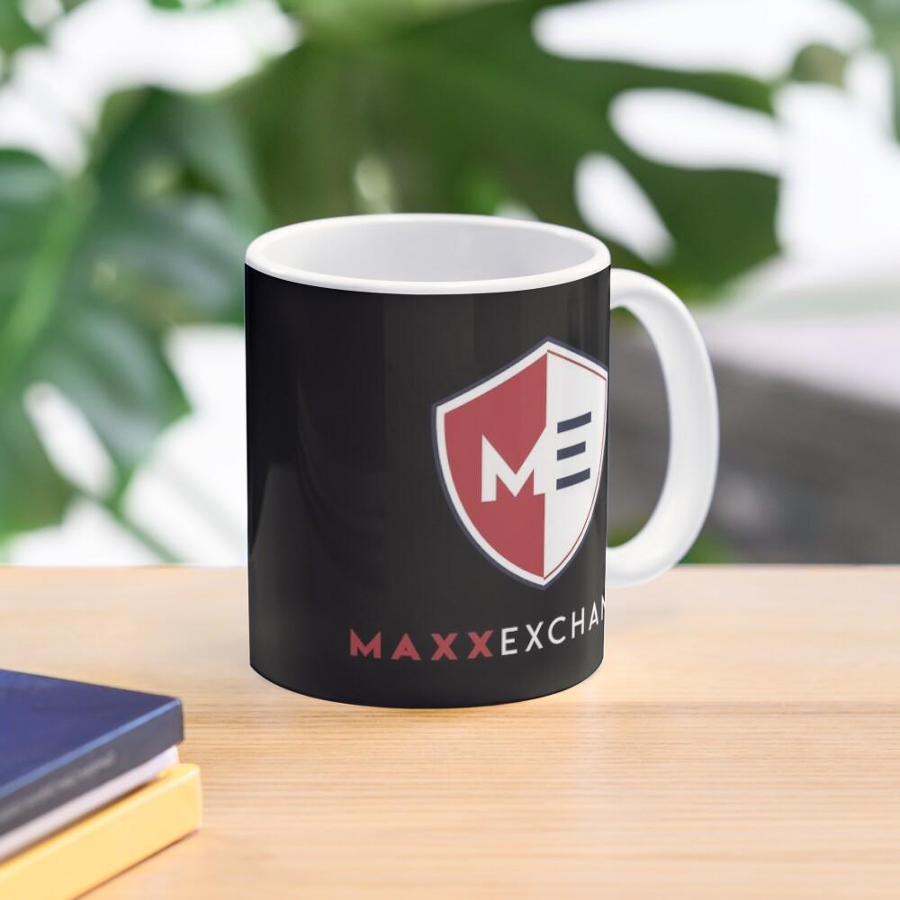 Maxx Exchange Brand Name Trademark Insignia Badge. Mug