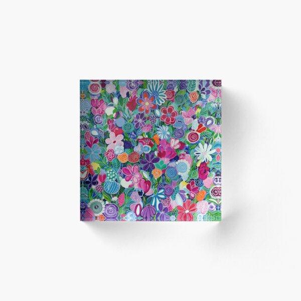 Wildflowers Acrylic Block