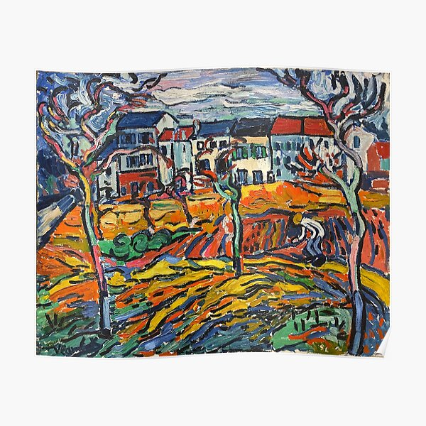 Houses at Chatou (1905) by Maurice de Vlaminck Poster