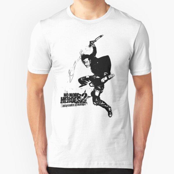 Travis Touchdown Rose Nasty Slim Fit T-Shirt