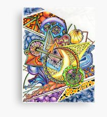 Coloured Zoodle Canvas Print