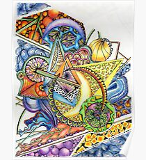 Coloured Zoodle Poster