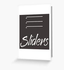 Sliders Greeting Card