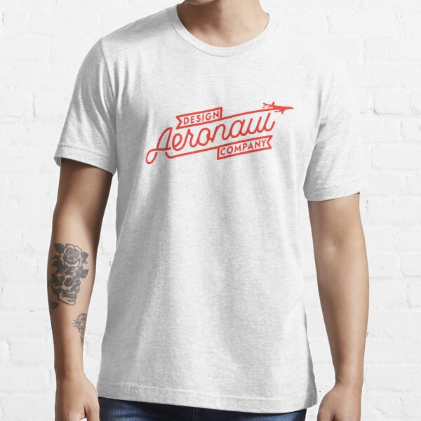 Aeronaut Monoline Red Logo Essential T-Shirt