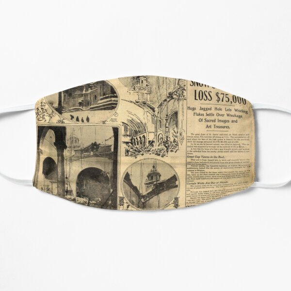 Old Newspaper - Cathedral Dome Falls Mask