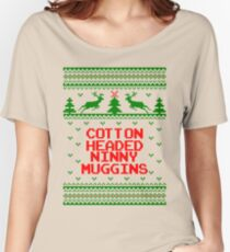 Cotton Headed Ninny Muggins Ugly Christmas Sweater Women's Relaxed Fit T-Shirt