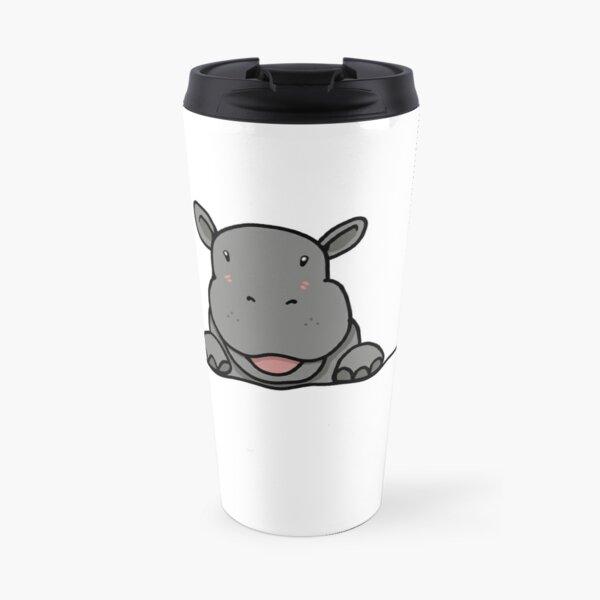 Cute Hippo Travel Mug
