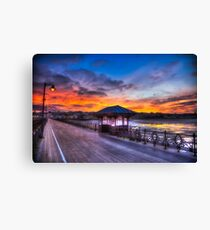 Ryde Pier Sunset Canvas Print