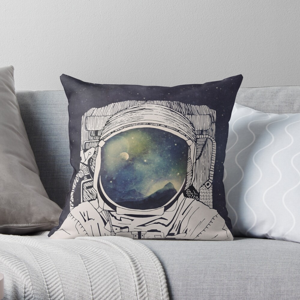 Dreaming Of Space Throw Pillow