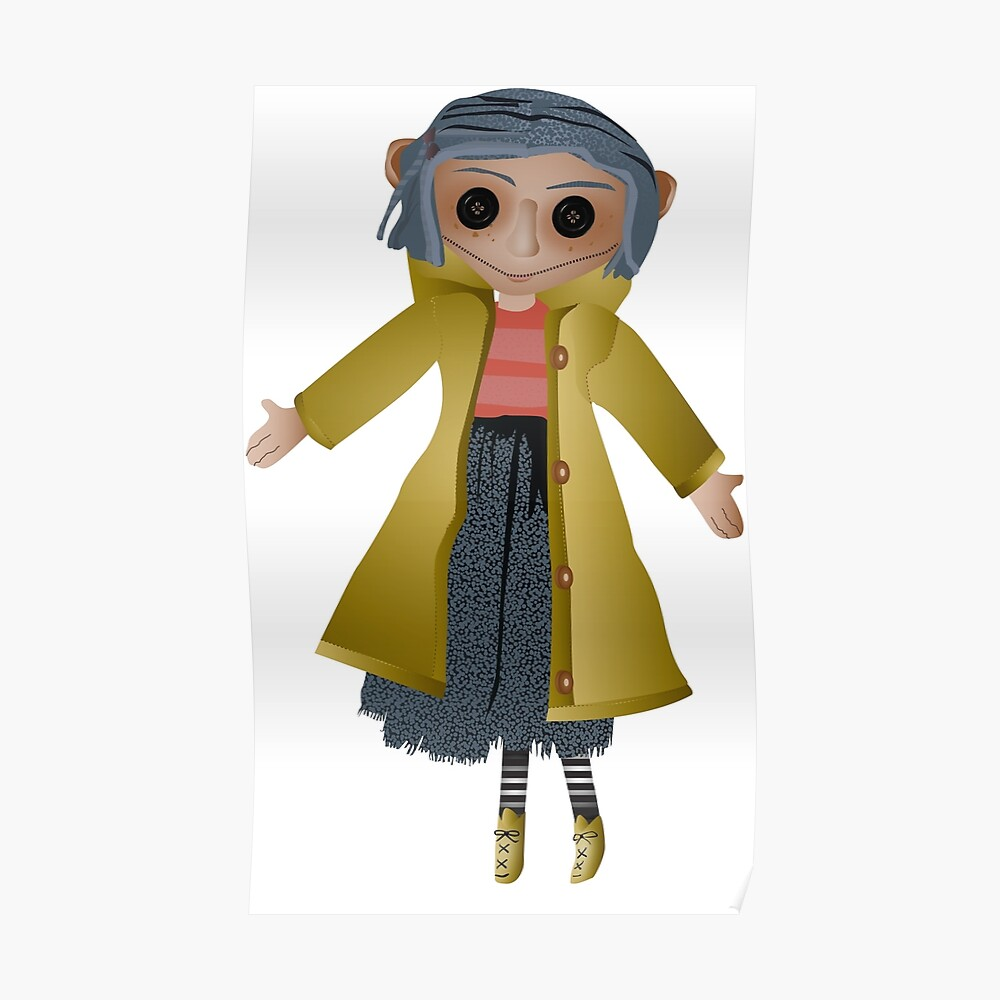 Coraline Doll Sticker By Allydoctrow Redbubble