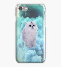 Pastel Goth Kitty, turqouise. iPhone Case/Skin