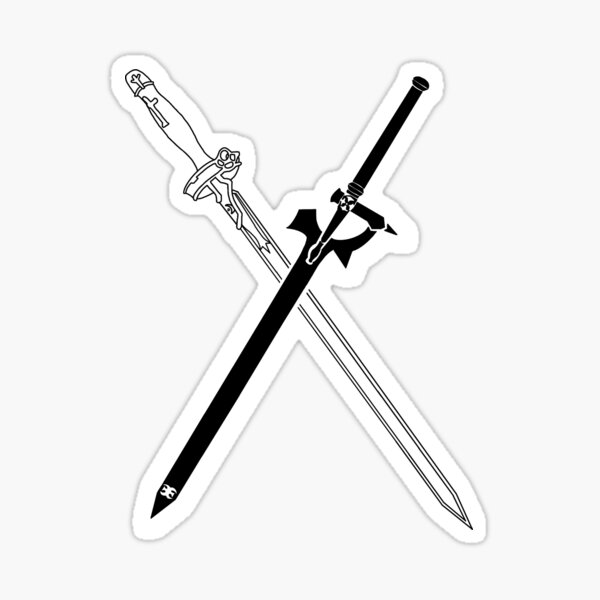 Sword Art Online, épées Kirito et Asuna Sticker