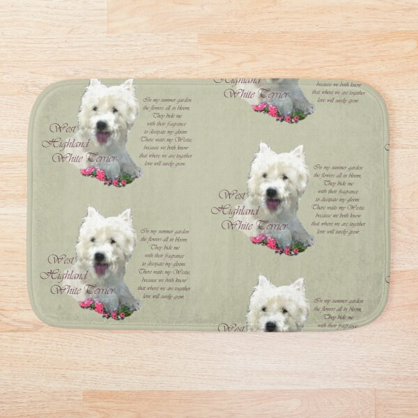 Westie personalized dog gifts West Highland Terrier pet memorial special pet portrait for Dog Mom or Dog Dad custom pet name word art