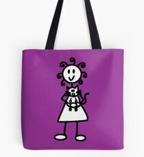 The girl with the curly hair - dark purple Tote Bag
