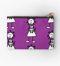 The girl with the curly hair - dark purple Studio Pouch