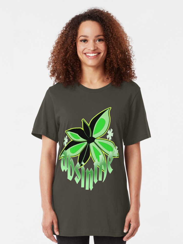 Alternate view of the green fairy. Slim Fit T-Shirt