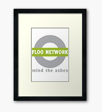 Just step into the emerald flames. Framed Print