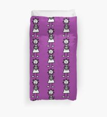 The girl with the curly hair - dark purple Duvet Cover
