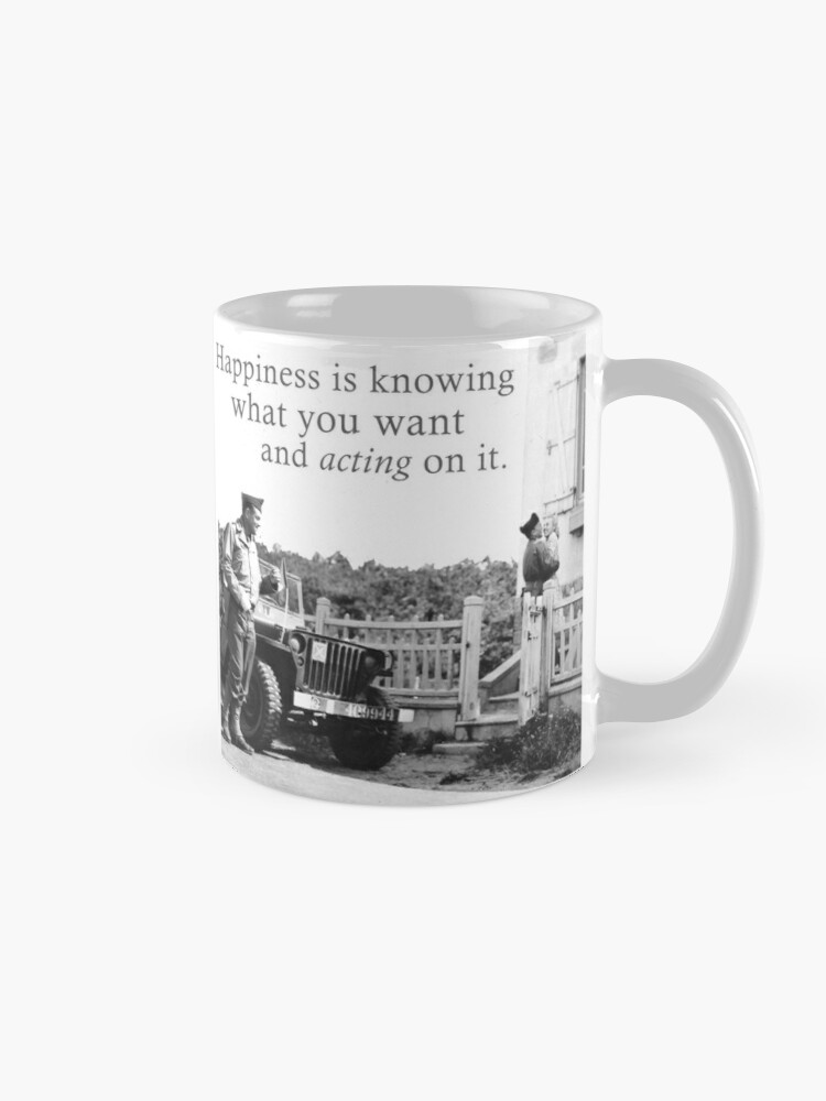 Alternate view of Happiness Is Knowing What You Want And Acting On It - A Meme For Lovers Mug