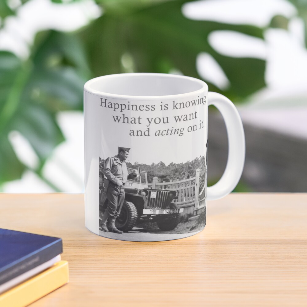Happiness Is Knowing What You Want And Acting On It - A Meme For Lovers Mug