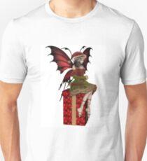 Christmas Fairy Elf Girl Sitting on a Present Unisex T-Shirt