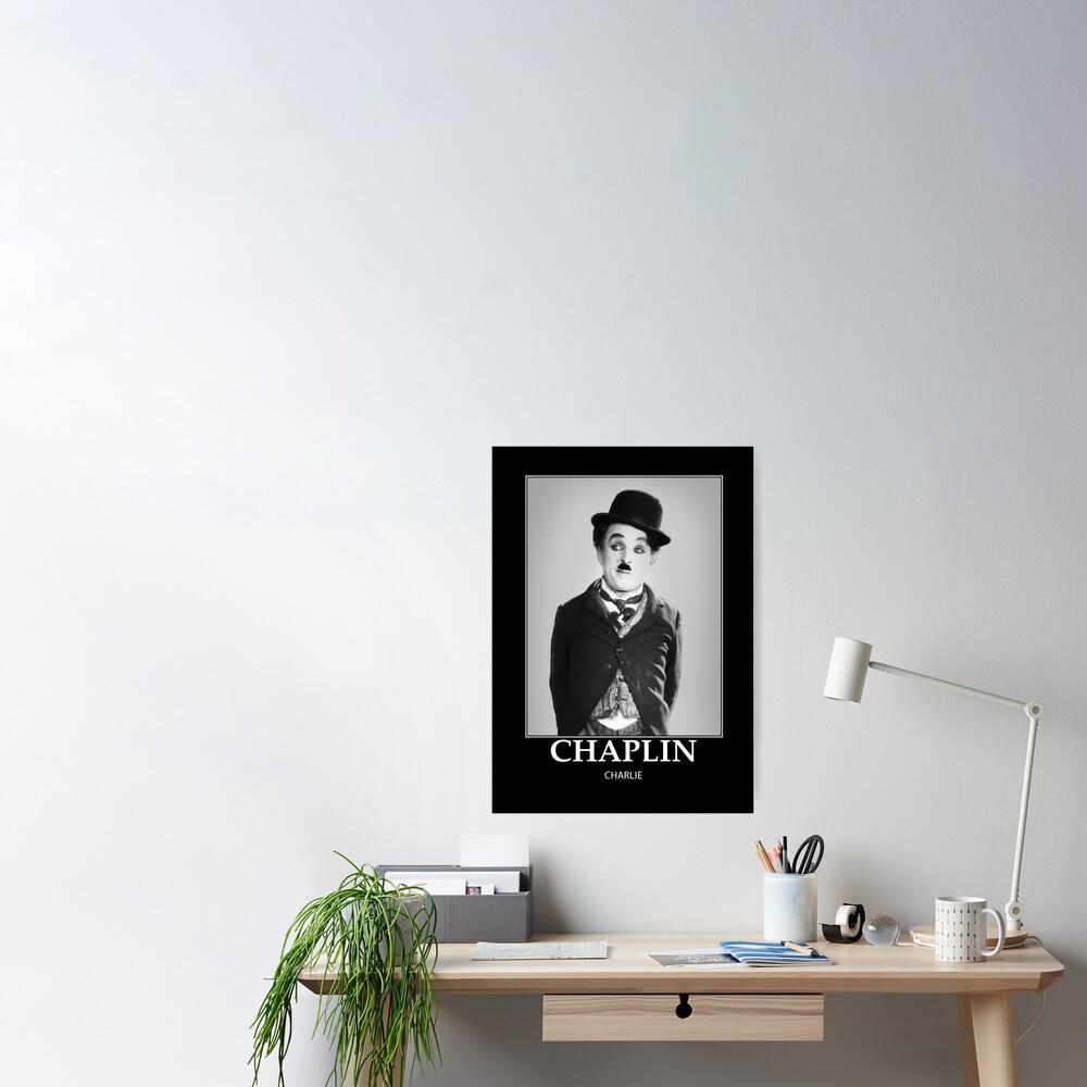 Chaplin - BW - D8 Póster