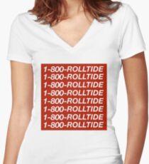 1-800-ROLLTIDE – University of Alabama Hotline Bling Women's Fitted V-Neck T-Shirt
