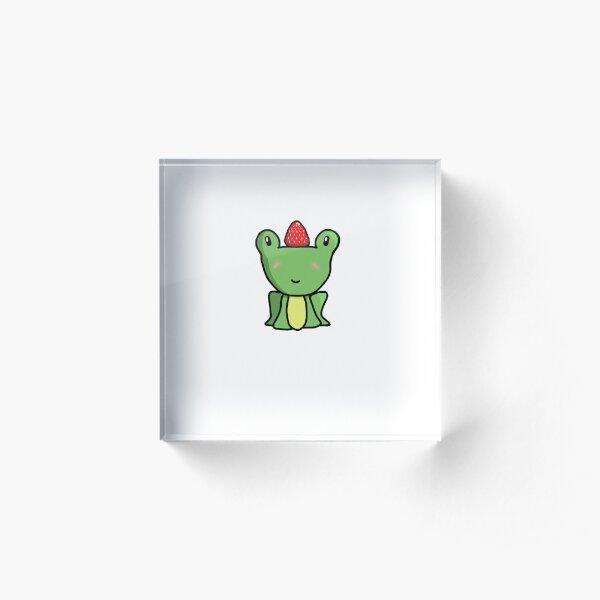 Strawberry Frog Acrylic Block