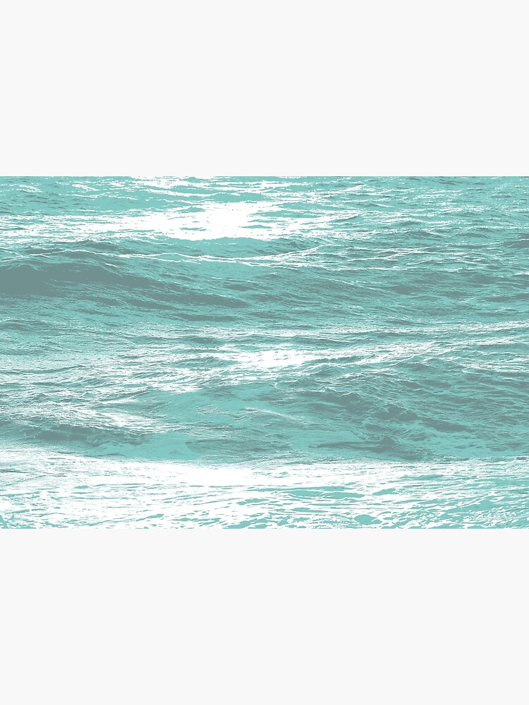 Ocean Swell Waves Teal Color 3 Color Abstract Wave Surfer Art Greeting Card By Rsaart Redbubble