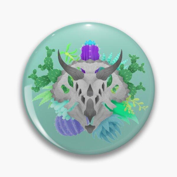 Desert Triceratops Skull Pin
