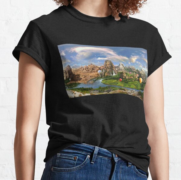 Valley Of The Temples - spiritual, peaceful temple art coexist Classic T-Shirt