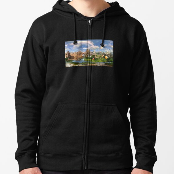 Valley Of The Temples - spiritual, peaceful temple art coexist Zipped Hoodie