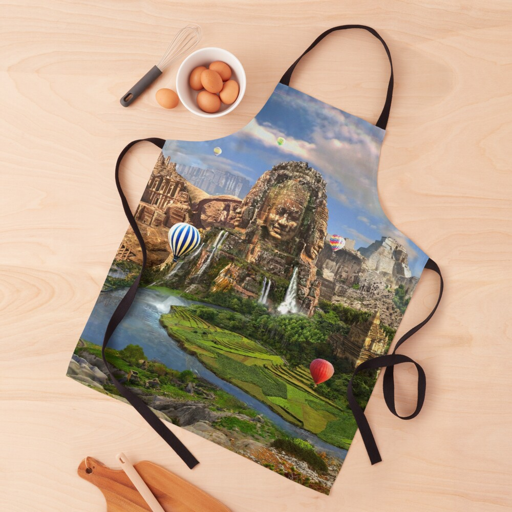 Valley Of The Temples - spiritual, peaceful temple art coexist Apron