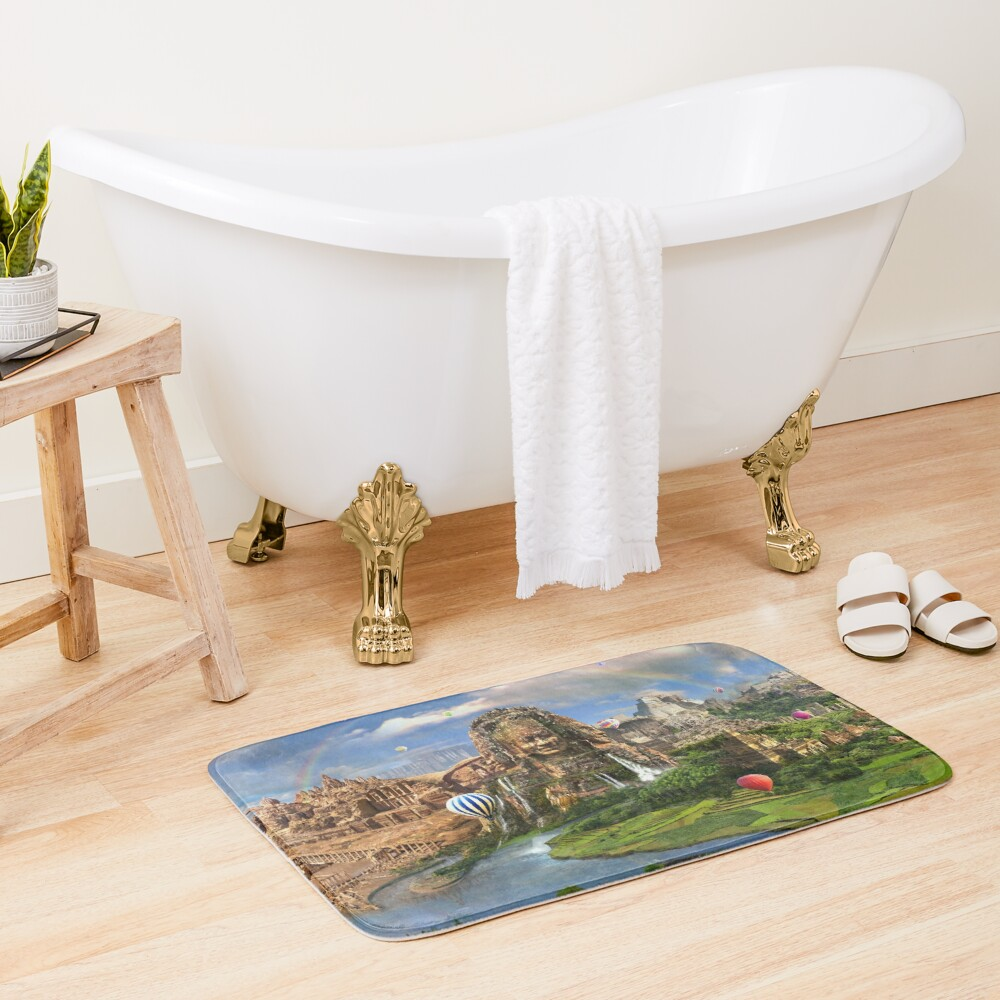 Valley Of The Temples - spiritual, peaceful temple art coexist Bath Mat