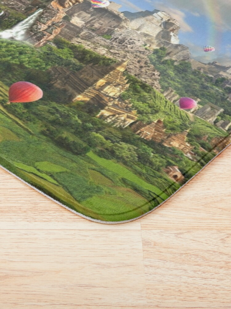Alternate view of Valley Of The Temples - spiritual, peaceful temple art coexist Bath Mat
