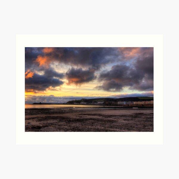 Dawn over Douglas in the Isle of Man  Art Print