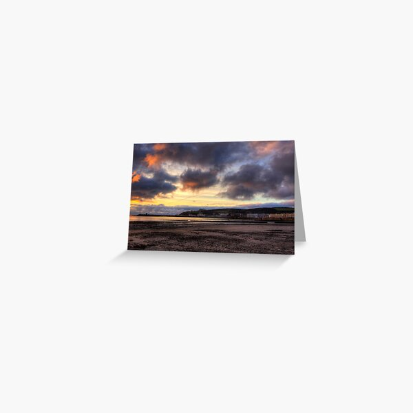 Dawn over Douglas in the Isle of Man  Greeting Card