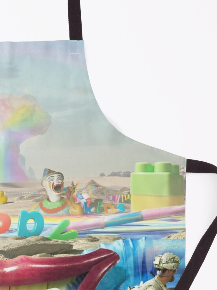 Alternate view of Clown Wasteland - trippy, surreal art Apron