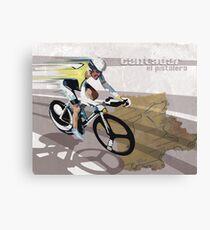 retro cycling poster Contador El Pistolero Canvas Print