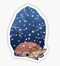 Sleeping Fawn Sticker