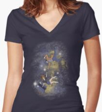 Timey-Wimey Infinite Women's Fitted V-Neck T-Shirt