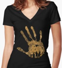 The Dead Walk!! Women's Fitted V-Neck T-Shirt