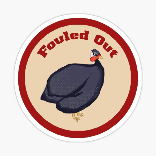 Fouled Out Merit Badge Sticker