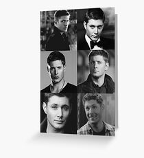 Dean Winchester Profile Edit Greeting Card