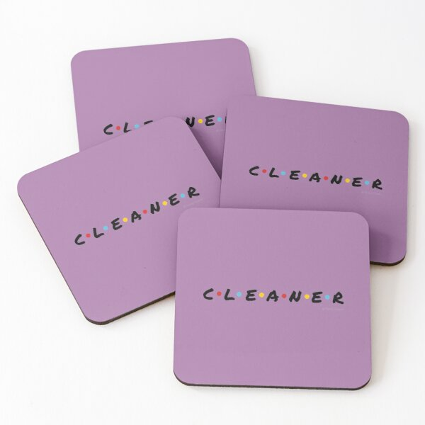 CLEANER - Funny Cleaning Shirts and Gifts Coasters (Set of 4)