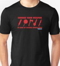 Zombie Apocalypse Choose Your Weapon Unisex T-Shirt