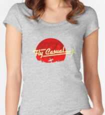 Fly Casual Women's Fitted Scoop T-Shirt