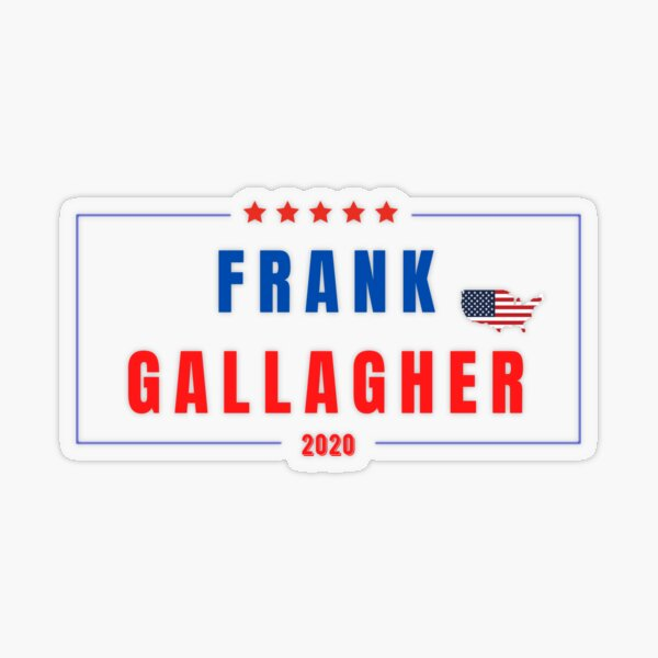 GO FRANK!, election concept  Transparent Sticker